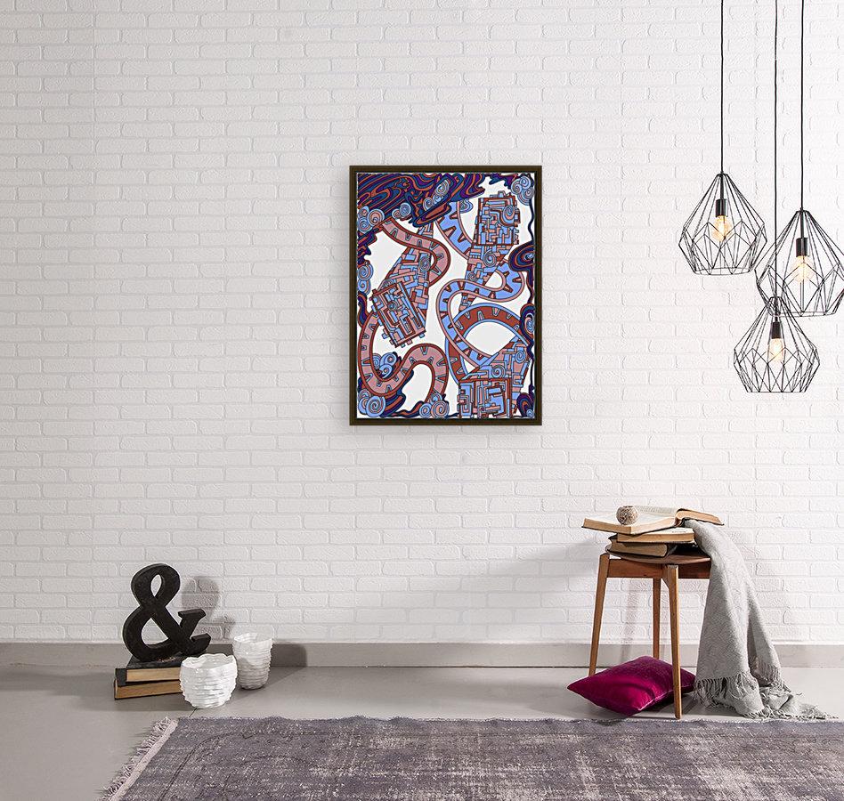 Wandering Abstract Line Art 24: Orange  Art