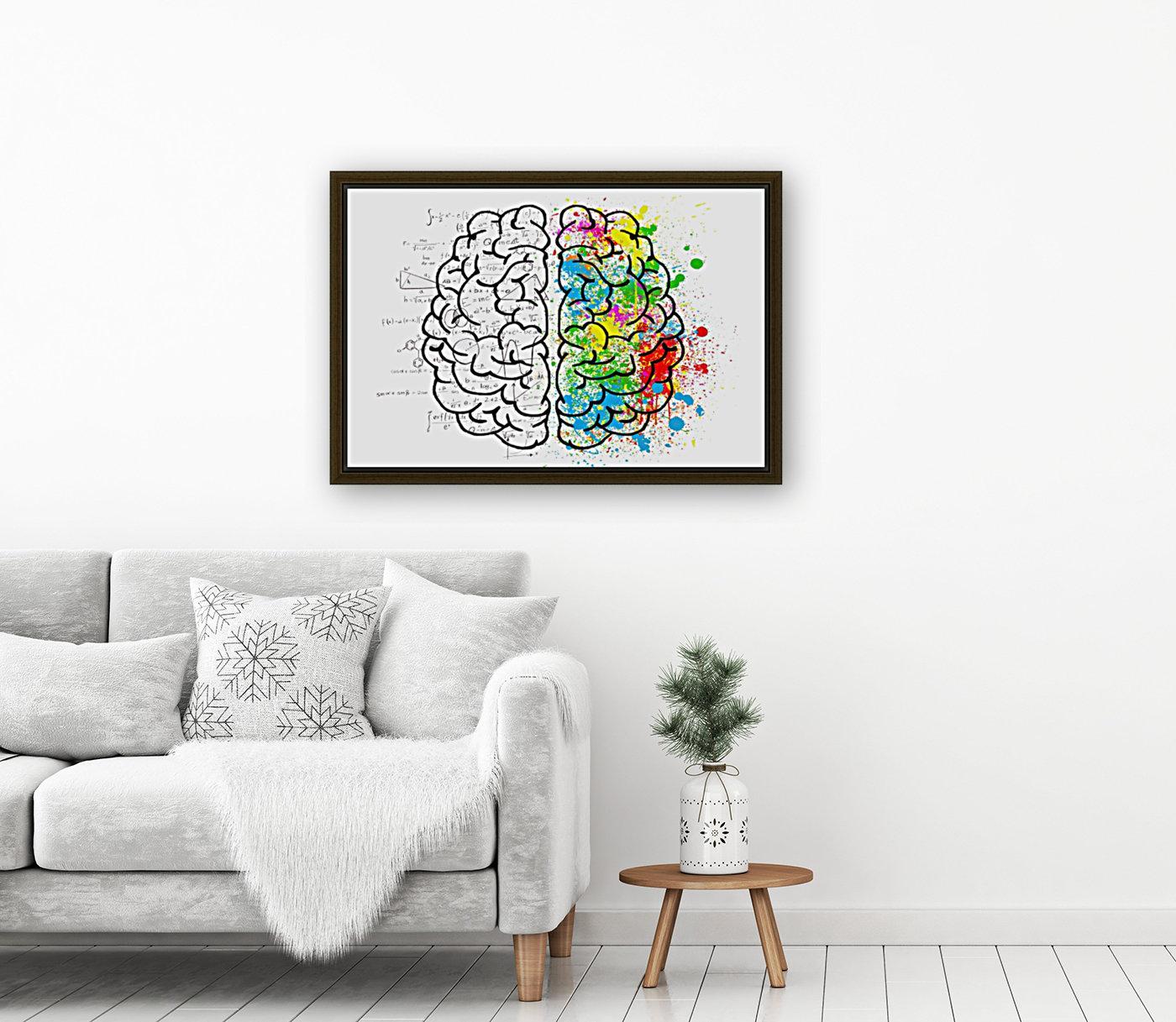 brain mind psychology idea drawing  Art