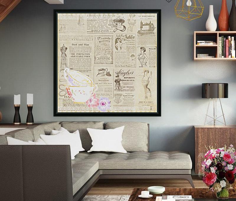 newsprint background  Art