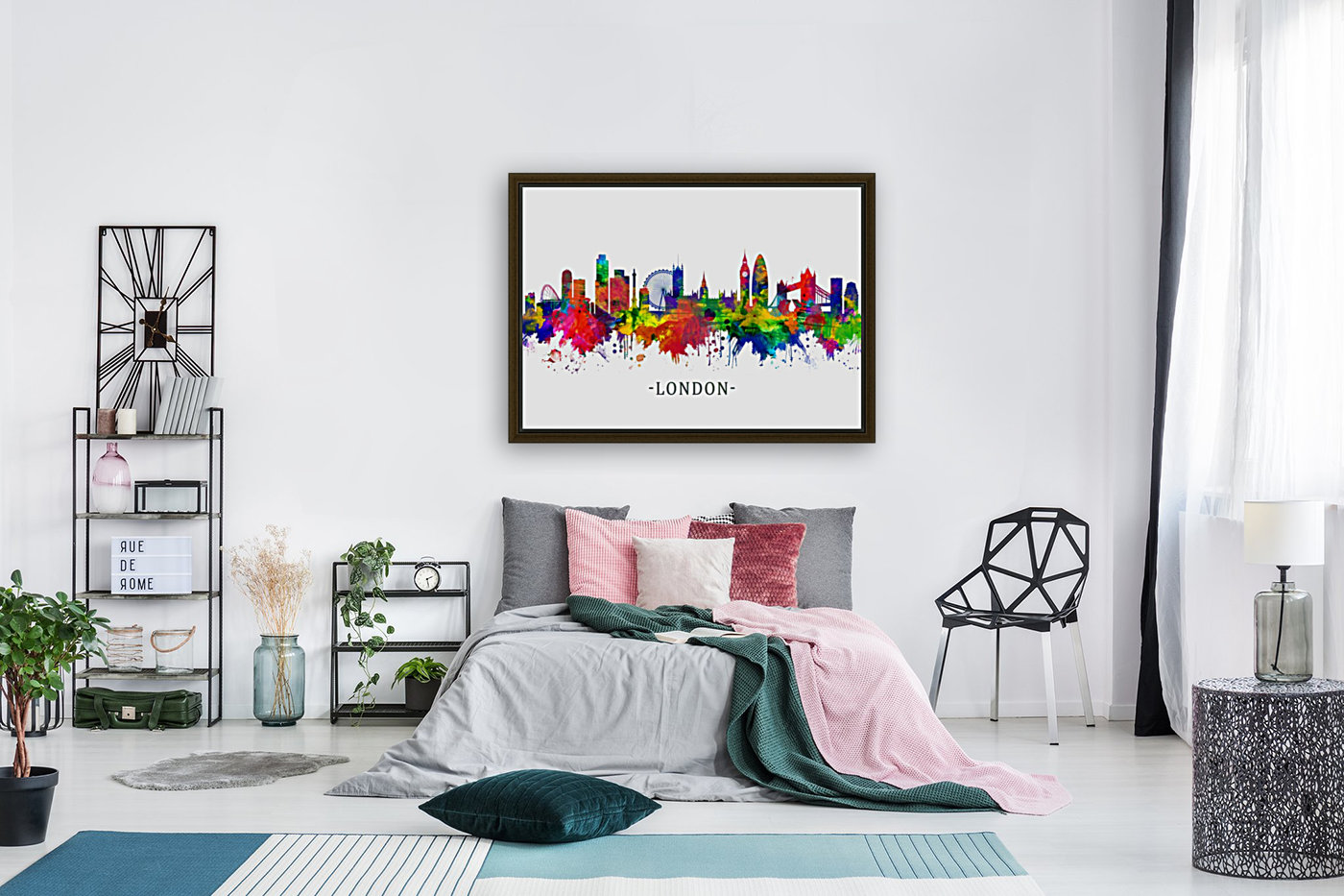 London England Skyline with Floating Frame