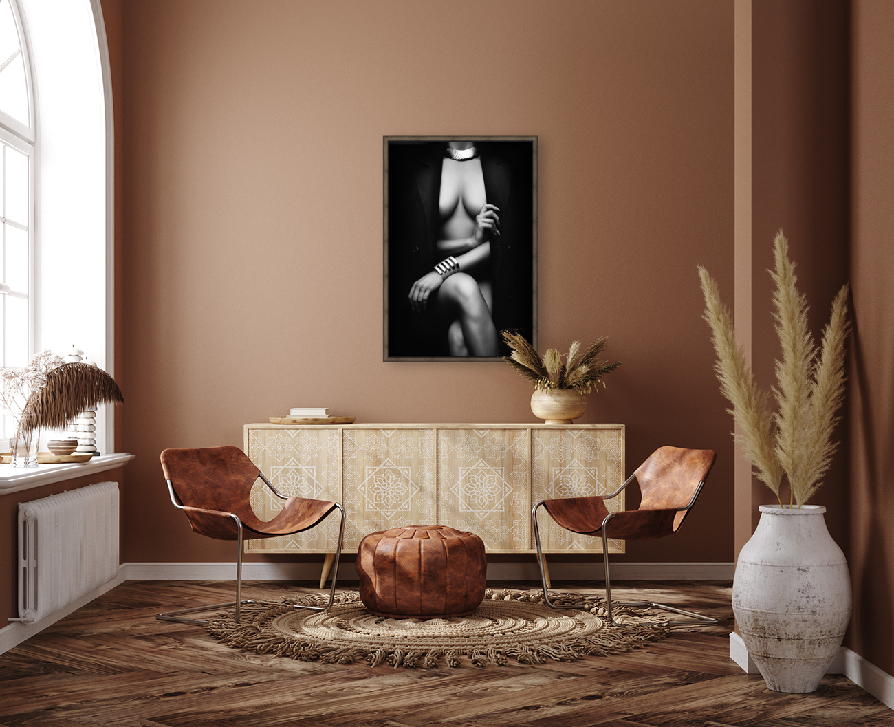 Nude Woman with jacket 1  Art