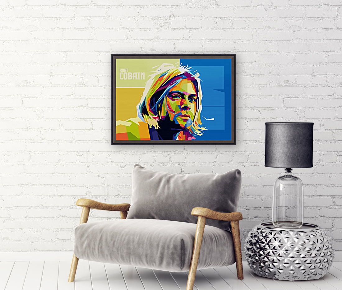 kurt cobain with Floating Frame