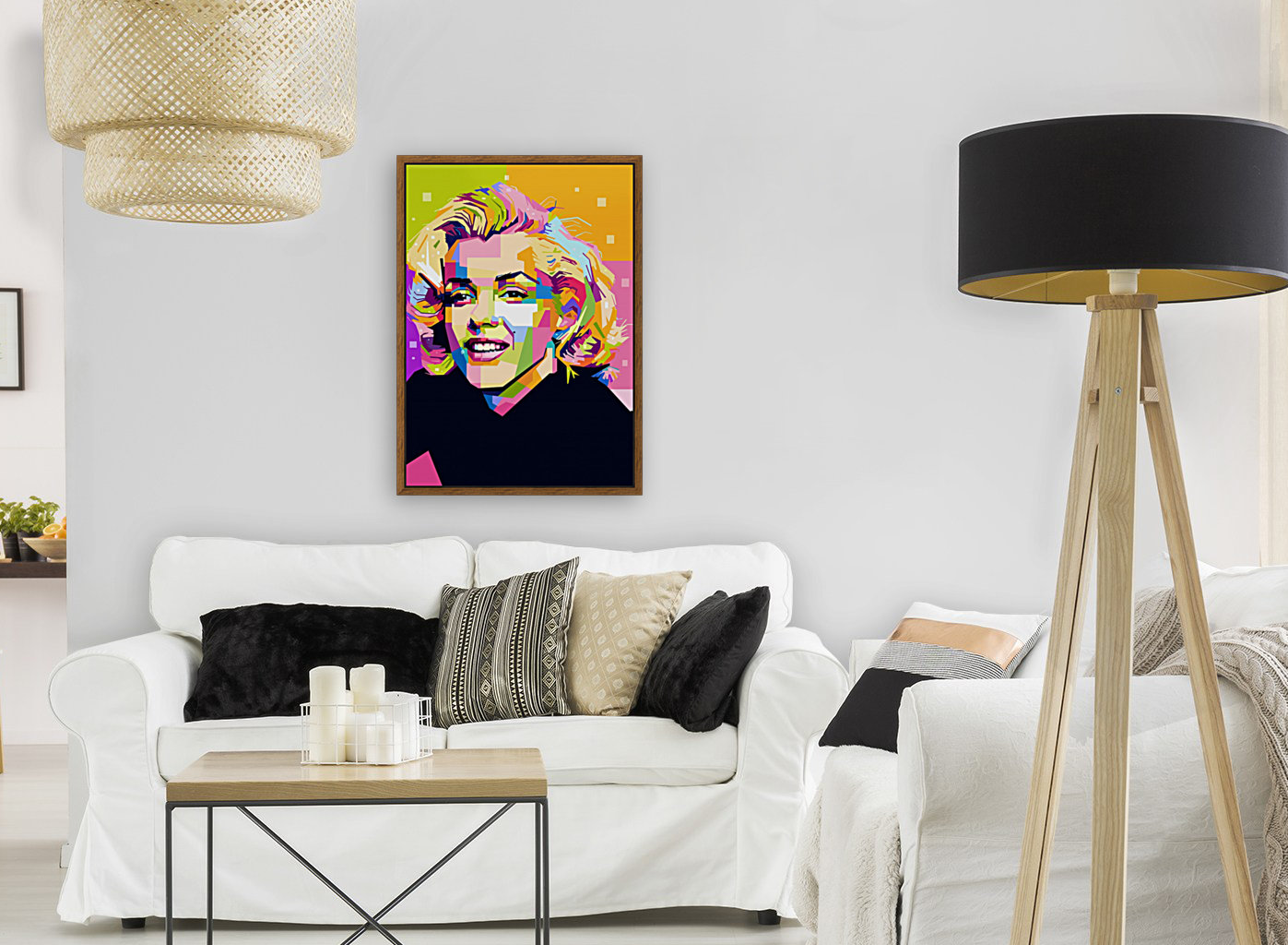 Marilyn Monroe with Floating Frame