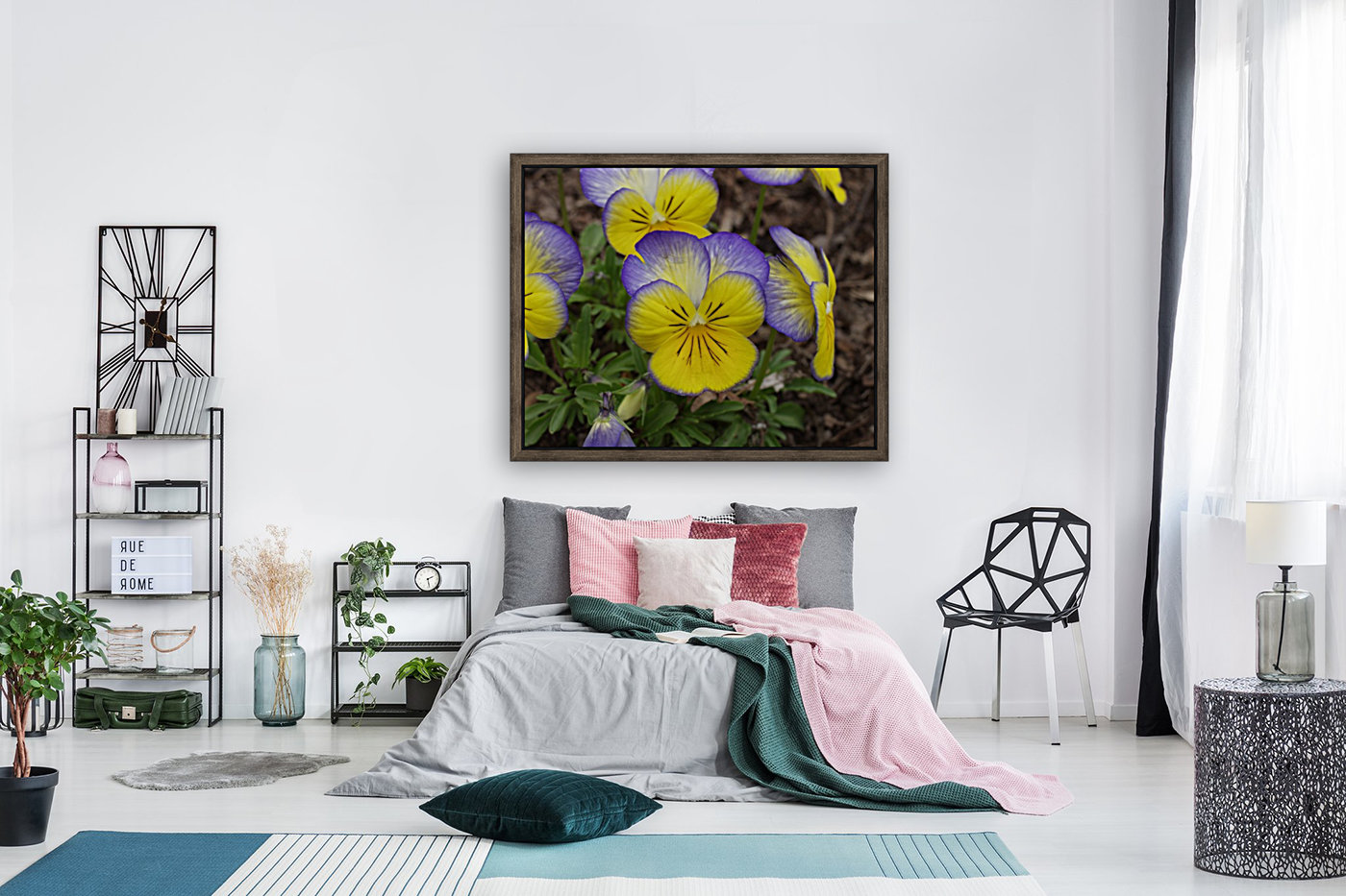 Pansy with Floating Frame