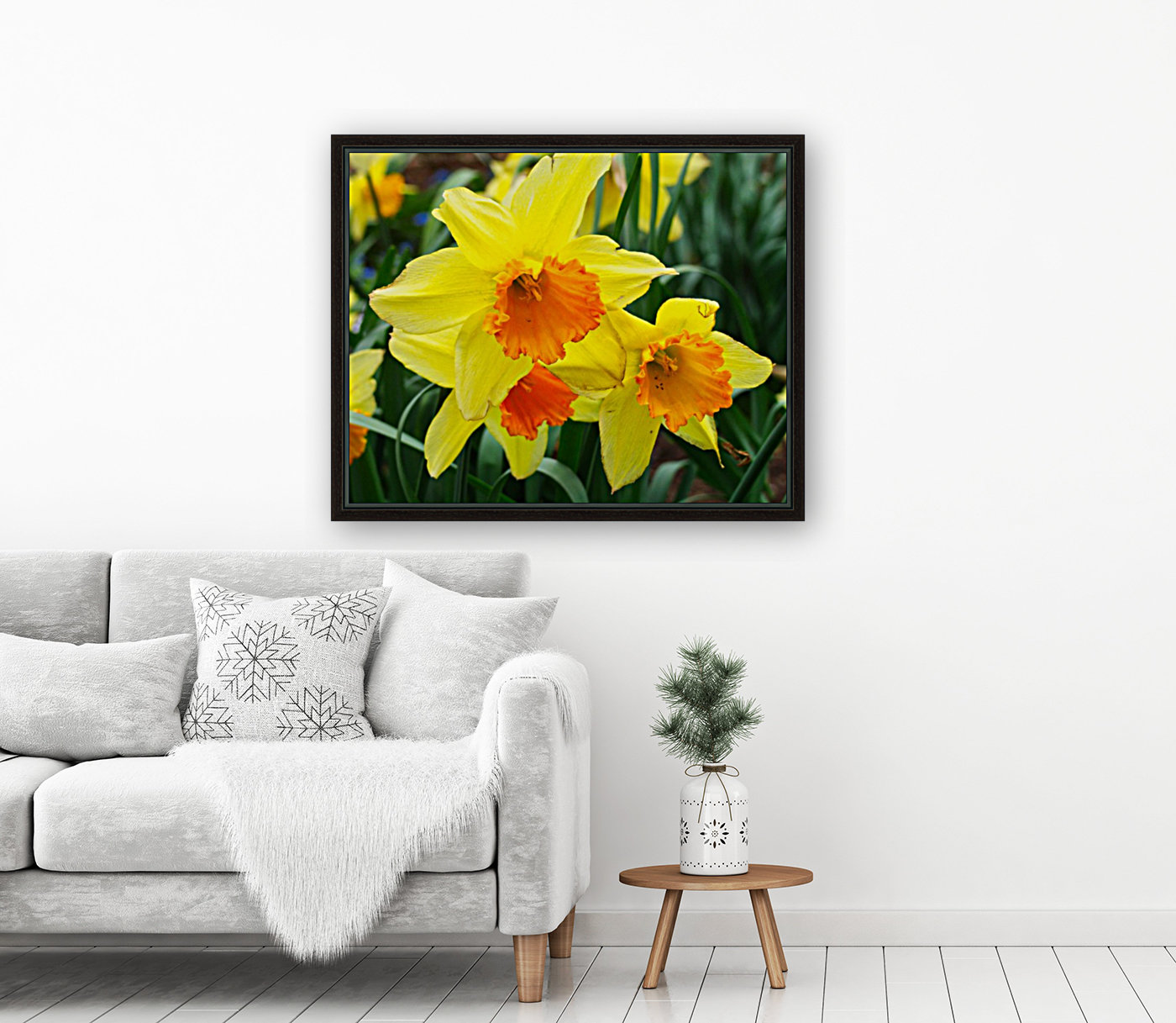 Daffodils with Floating Frame