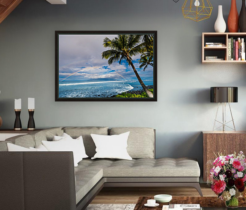 Hawaiian Landscape with Floating Frame