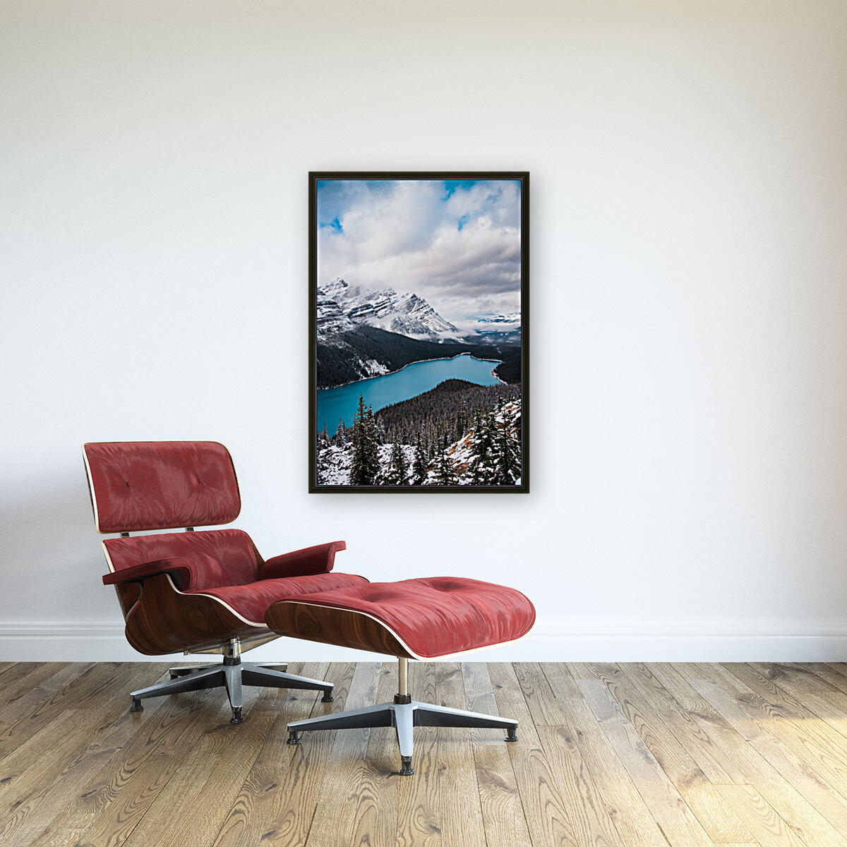 Wintry Peyto Lake with Floating Frame