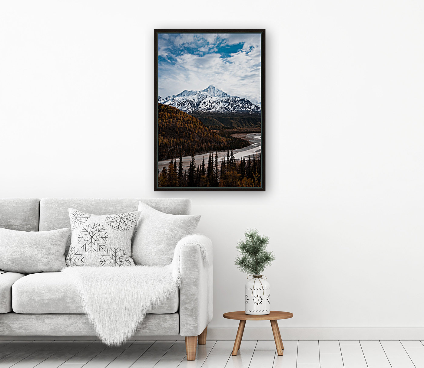 Alaskan Autumn with Floating Frame