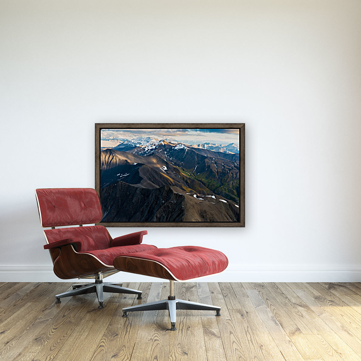 Alaskan Landscape with Floating Frame