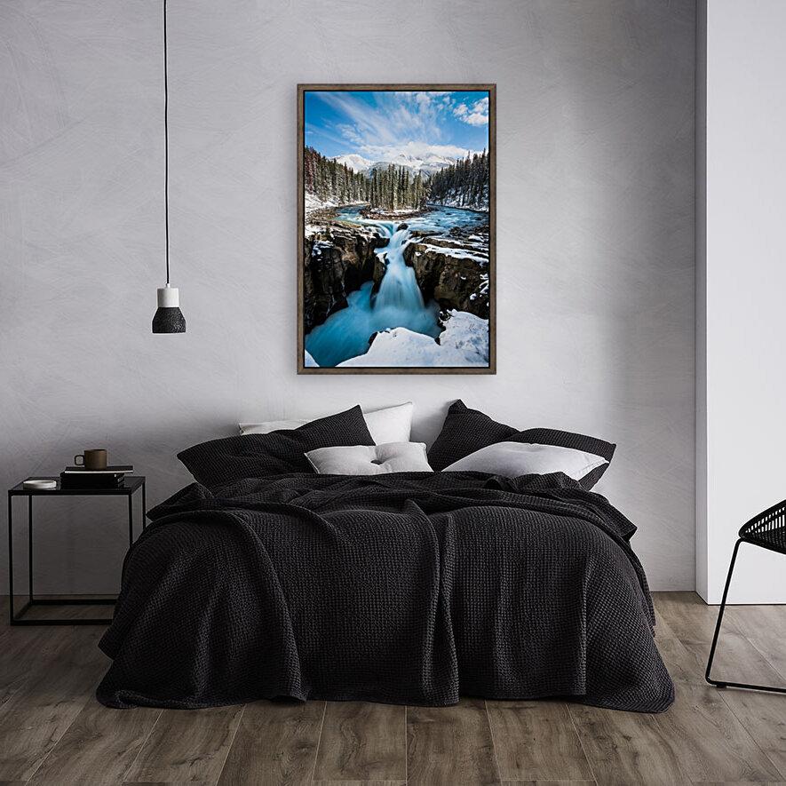 Snowy Sunwapta Falls  Art
