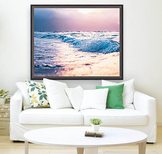 Pastel Waves with Floating Frame