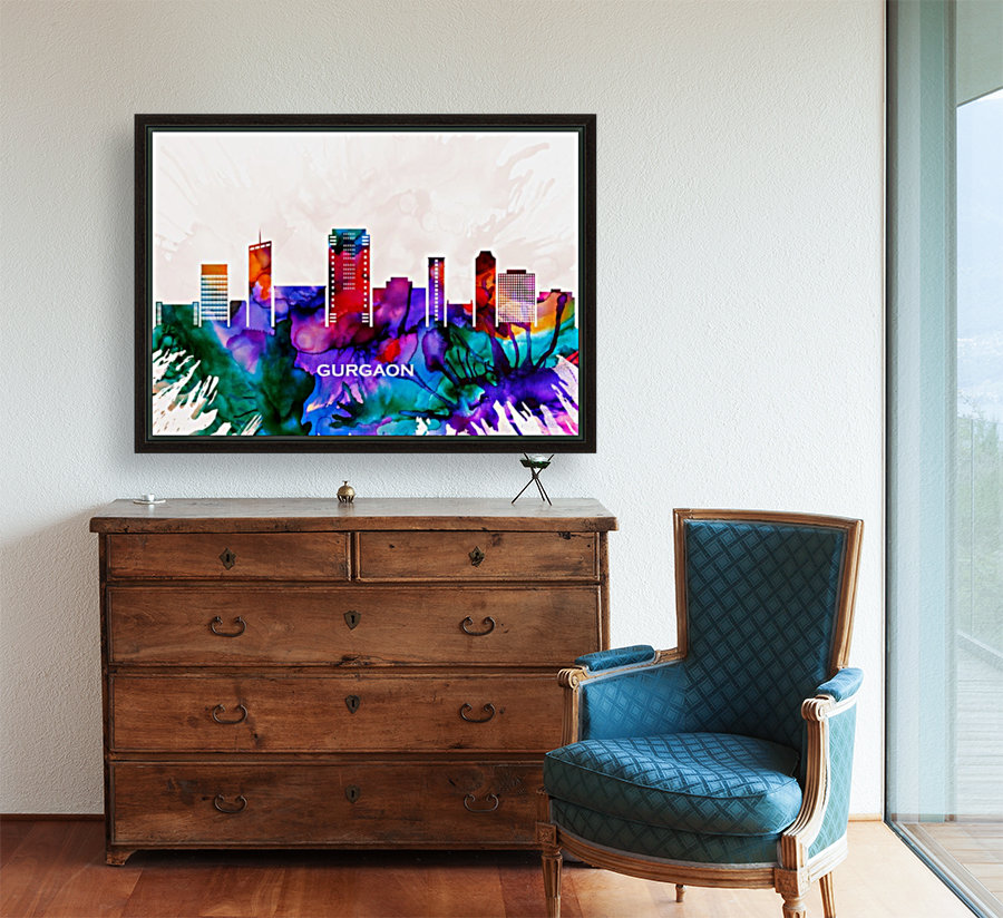 Gurgaon Skyline  Art