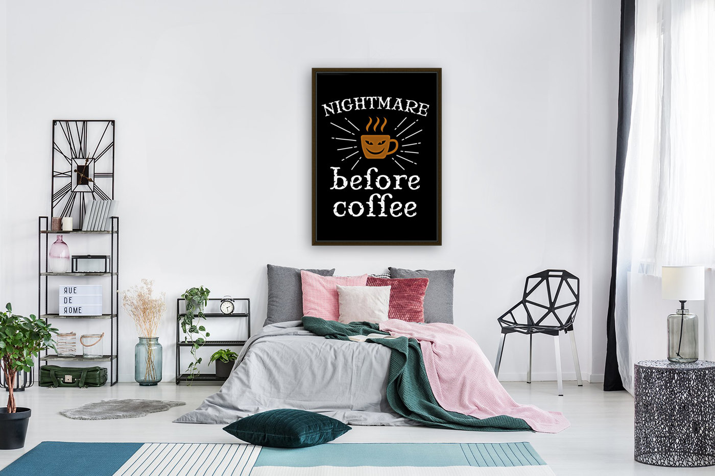 Nightmare Before Coffee with Floating Frame
