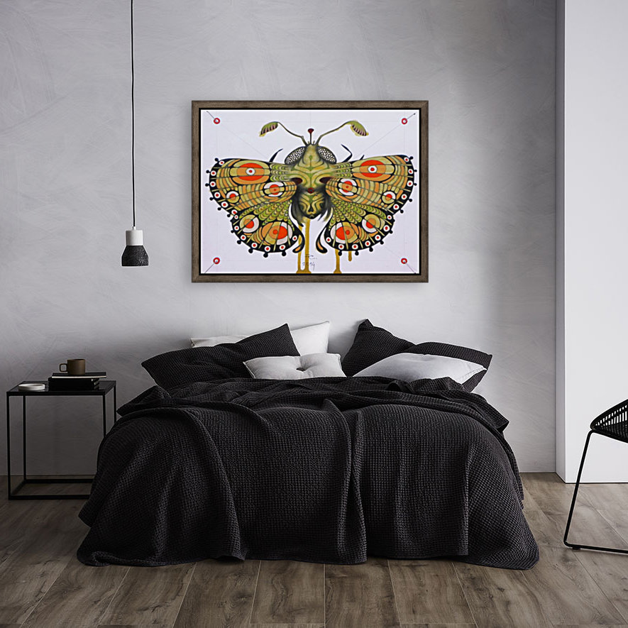 moth with Floating Frame