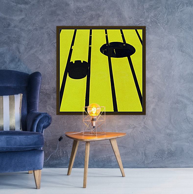 Yellow - urban pop art - square with Floating Frame