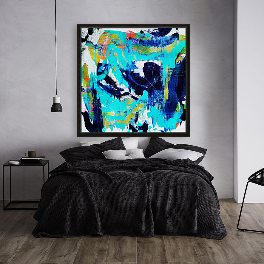 Abstract Ikat with Floating Frame