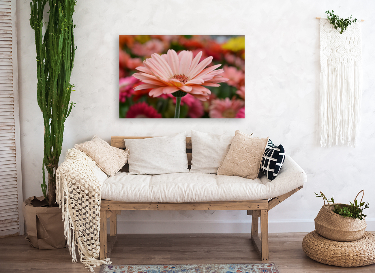 Floral Photograph  with Floating Frame