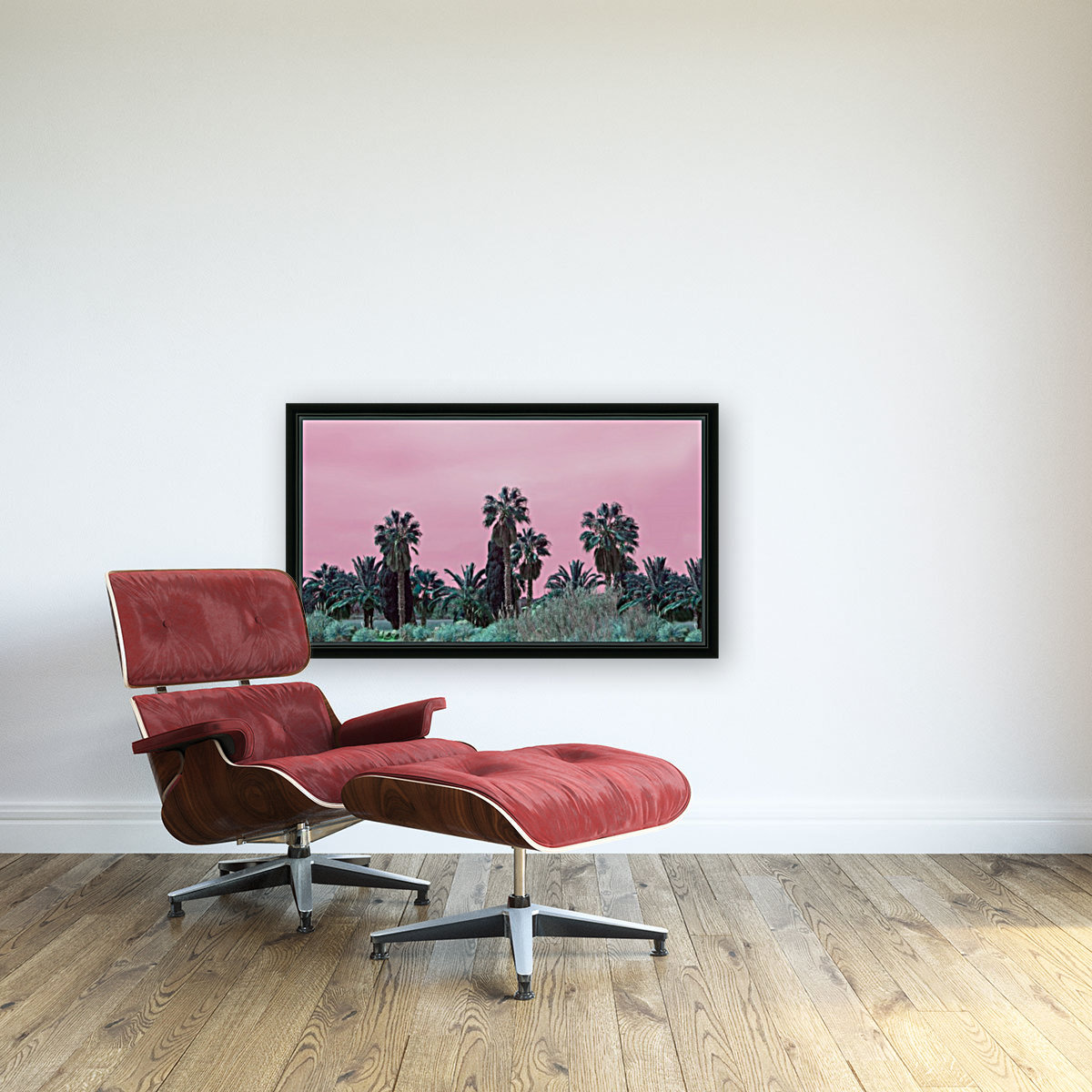 Pink Sky with Floating Frame