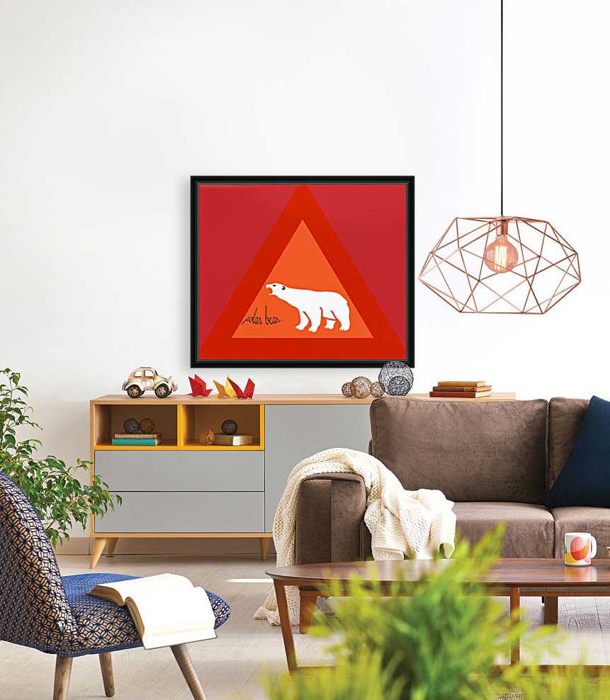 Polar Bear by dePace with Floating Frame