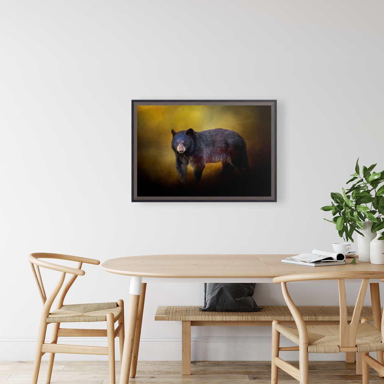 Bear with Floating Frame