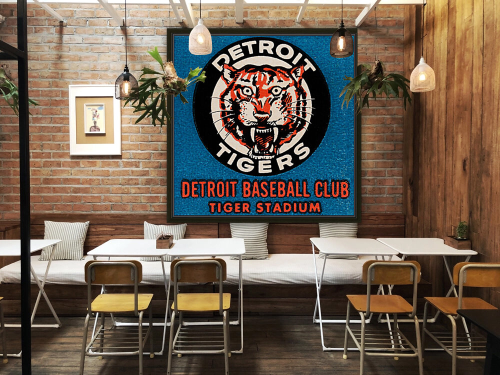 1963 Detroit Tigers Art  with Floating Frame