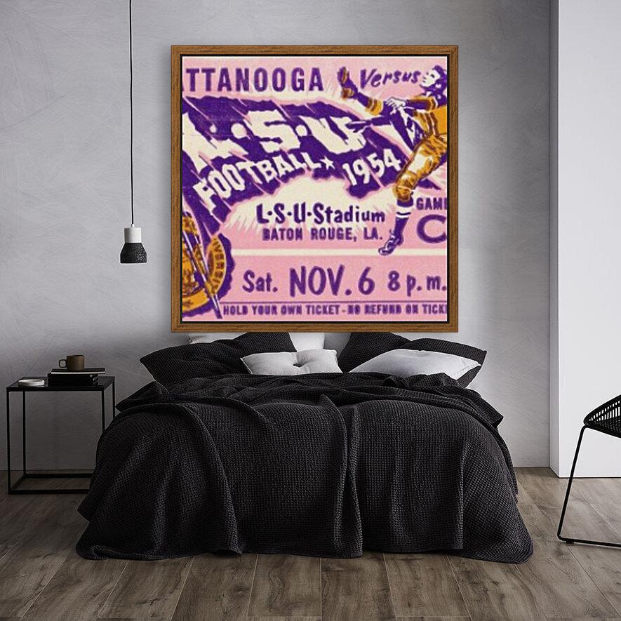 1954 Chattanooga vs. LSU  Art