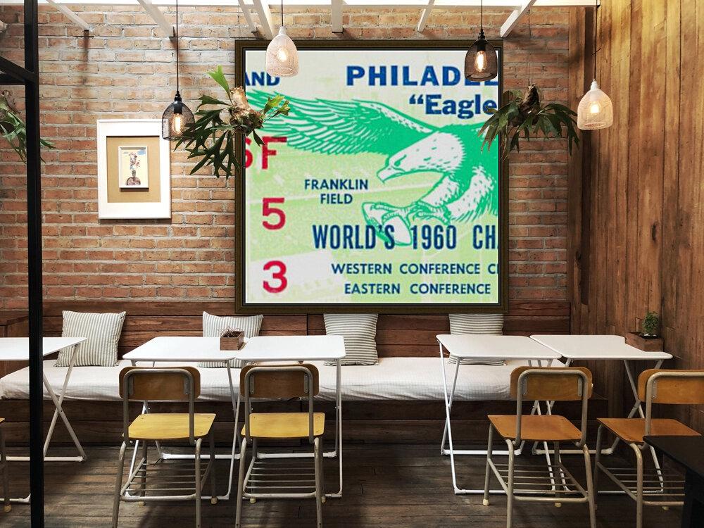 1960 Philadelphia Eagles Football Ticket  Art