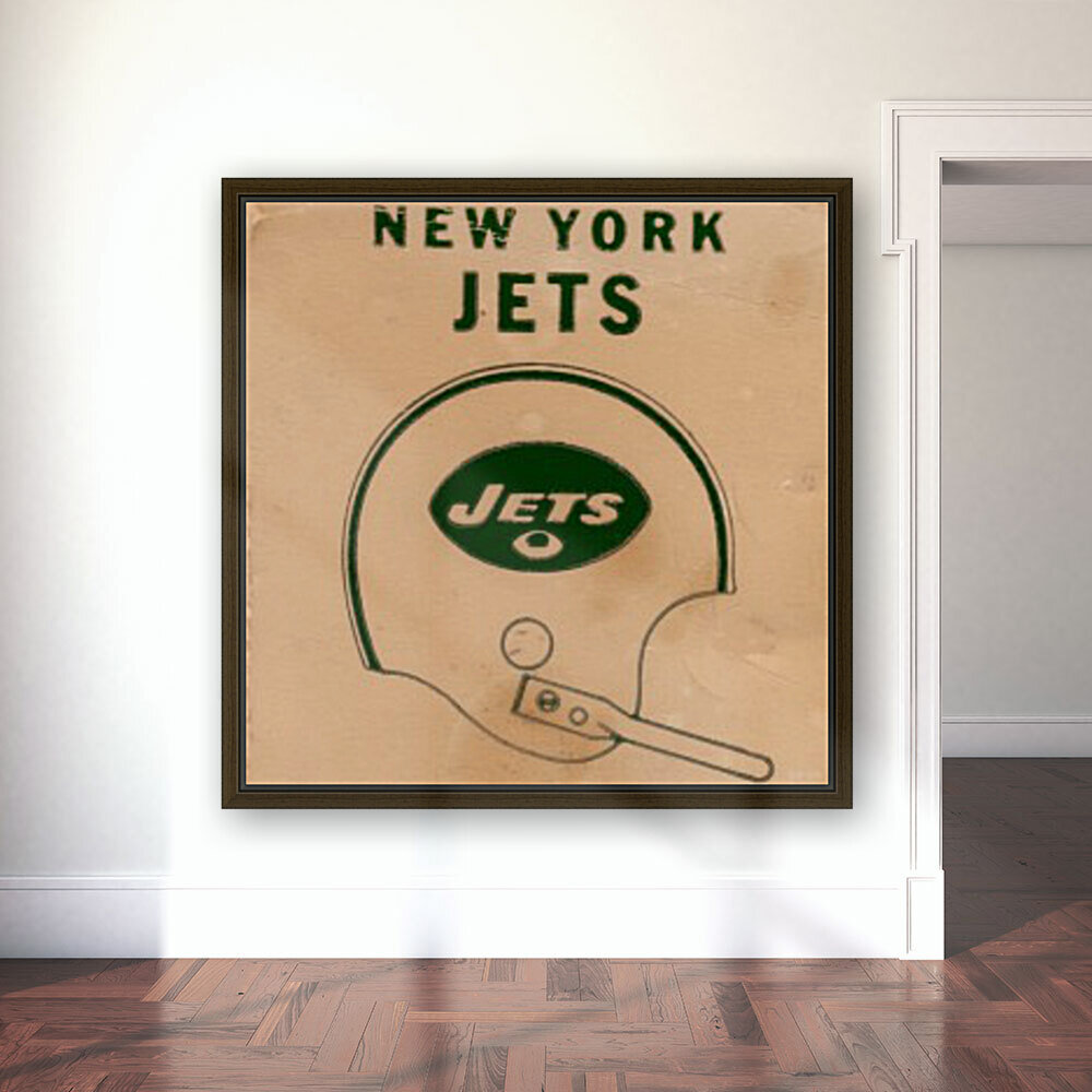 1971 New York Jets Vintage Helmet Art  Art