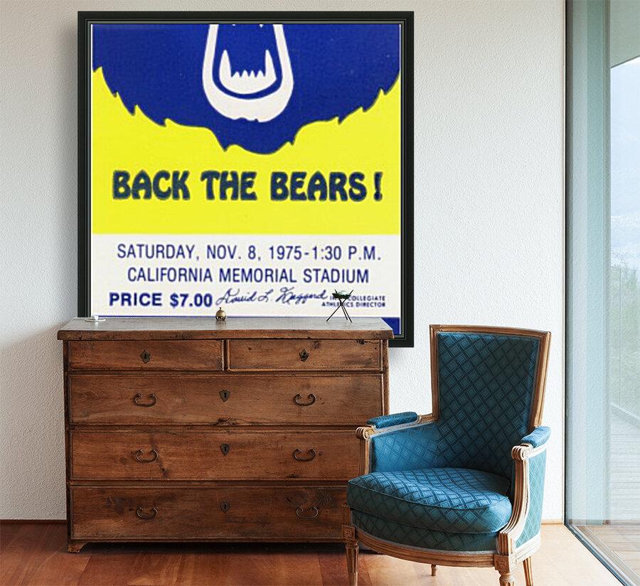 1975_College_Football_California vs. Washington_California Memorial Stadium_Row One  Art