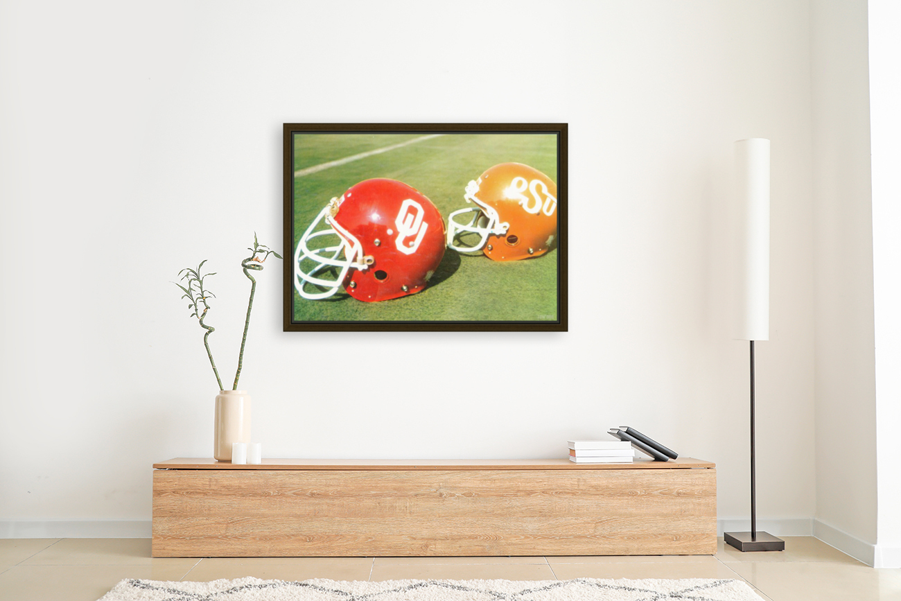 1978 Oklahoma Sooners OSU Cowboys Football Helmet Art   Art