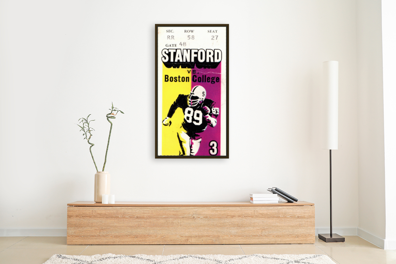 1979_College_Football_Boston College vs. Stanford_Palo Alto_Row One Brand College Art  Art