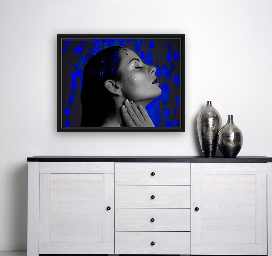 Blue with Floating Frame