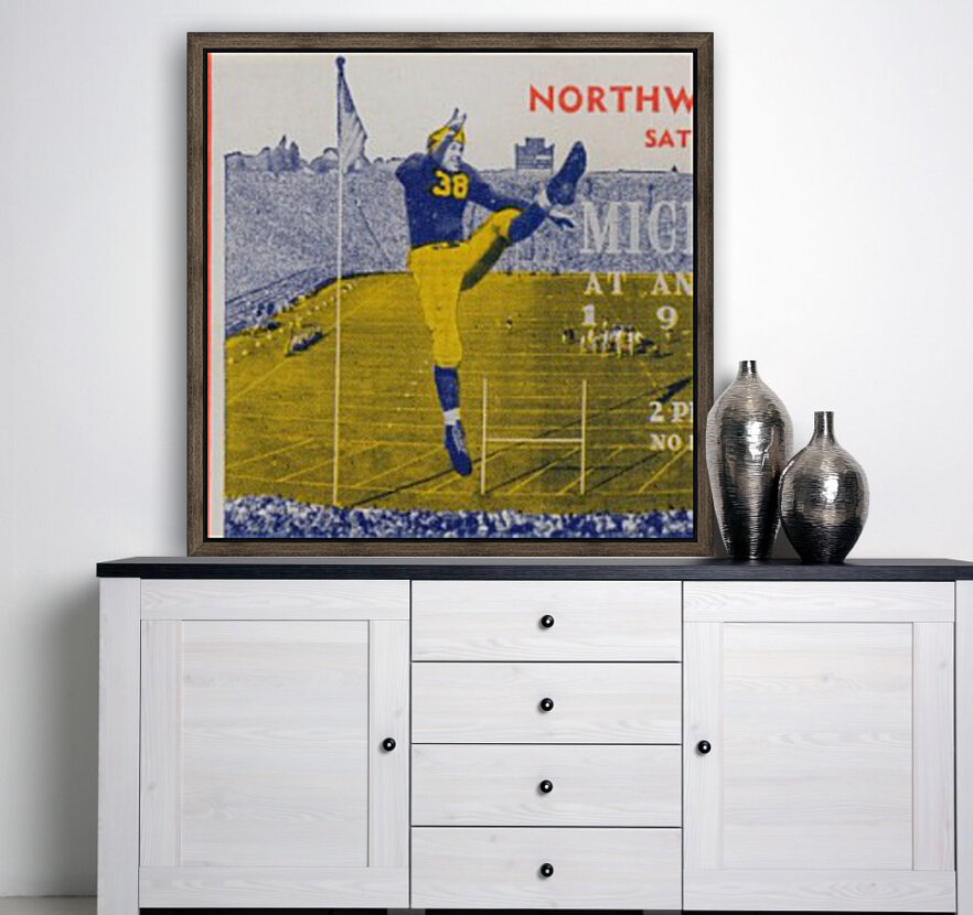 1944 Northwestern vs. Michigan with Floating Frame