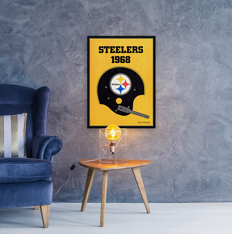 1968_National Football League_Pittsburgh Steelers_Media Guide_Row One Brand Vintage Media Guide Art  Art