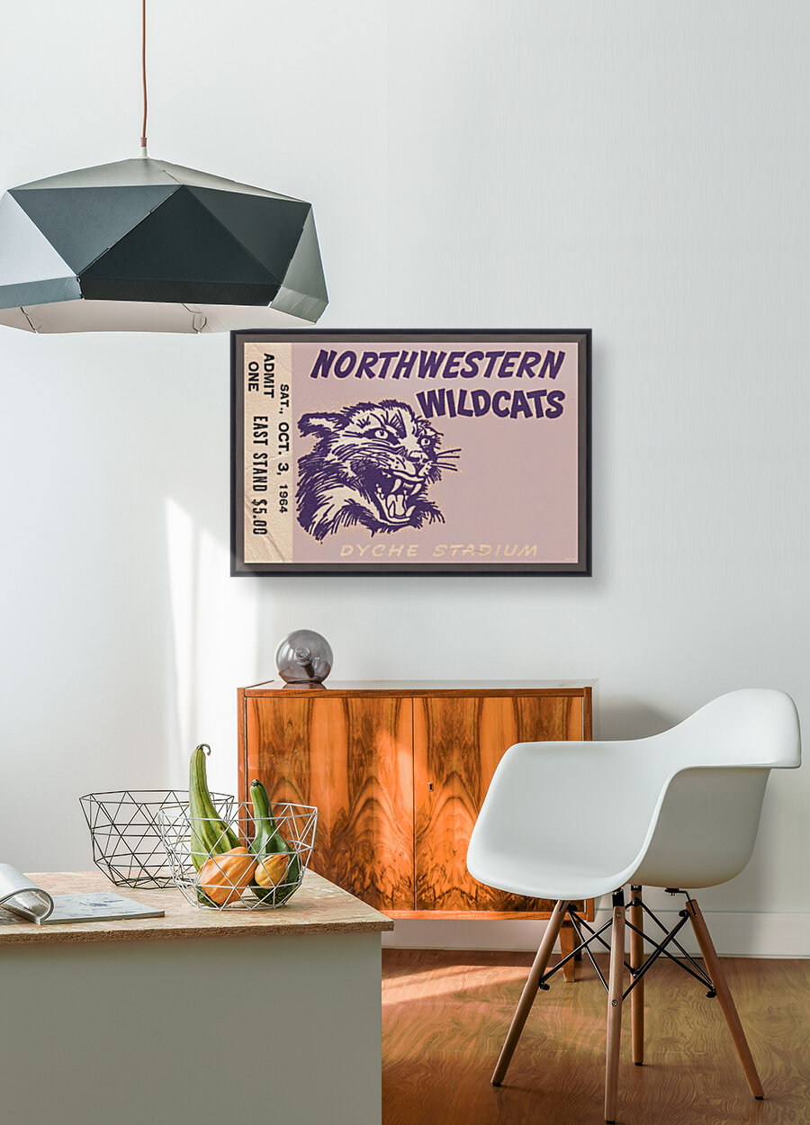 Northwestern University Wildcats College Football Wall Art Ticket Stub  Art