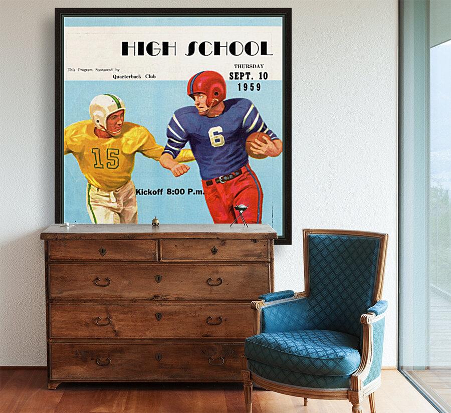 1959 High School Football  Art