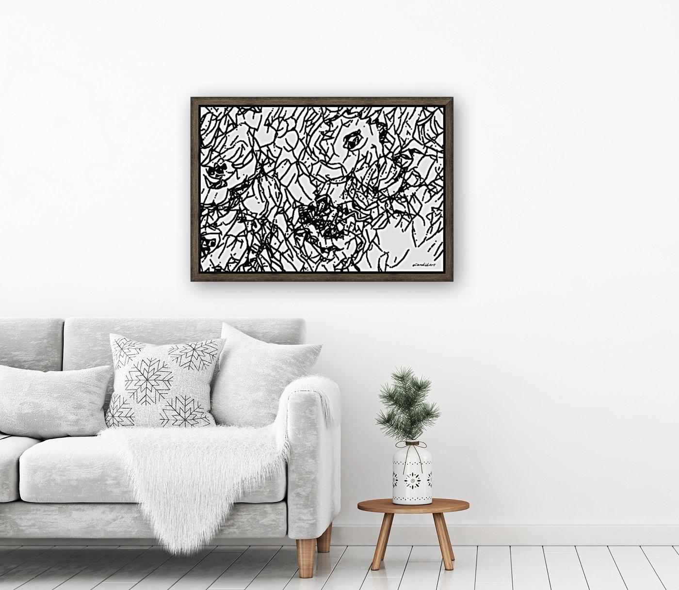 Black & White Art Transparent  Art