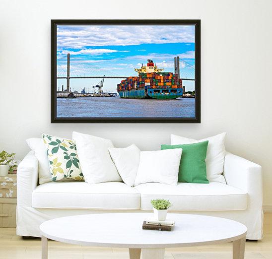 Cargo Ship on the Savannah River 04044  Art