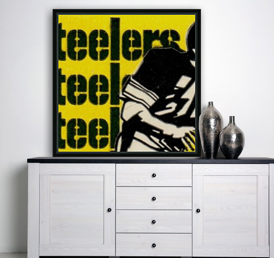 Vintage Pittsburgh Steelers Football Art Reproduction  Art