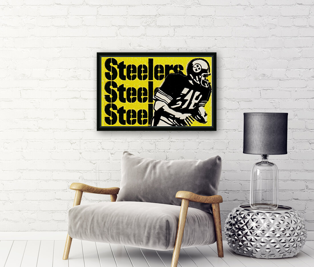 Row One Brand Vintage Pittsburgh Steelers Football Art Print Art Reproduction (1974)  Art