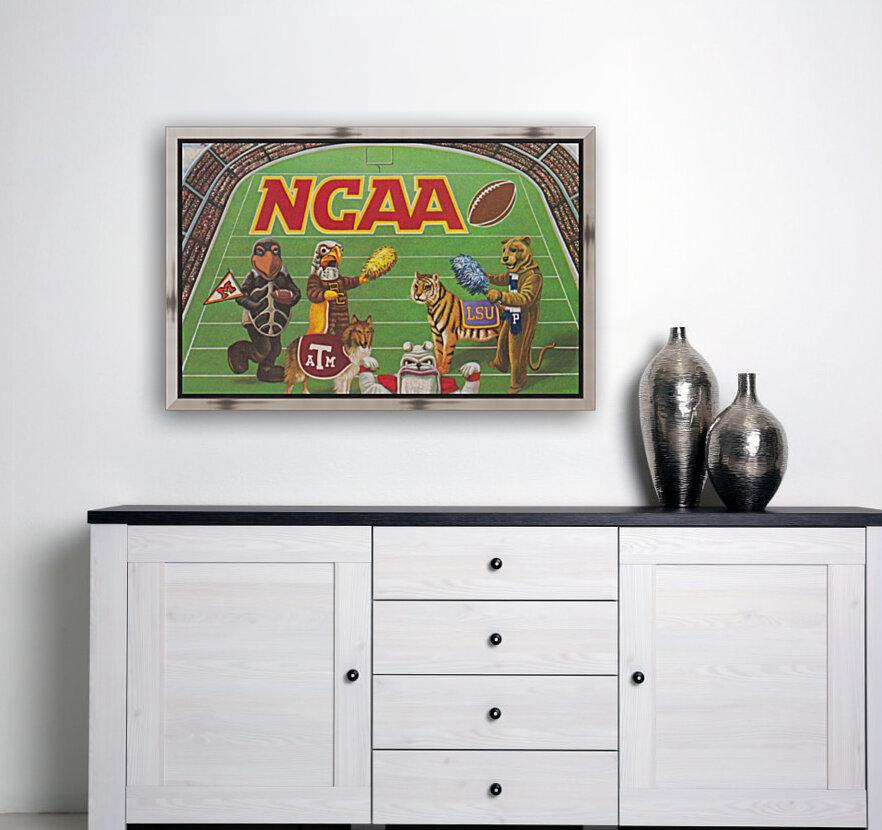 1984 NCAA Football Ad Reproduction_Vintage Sports Ads_Retro Sports Advertisement  Art