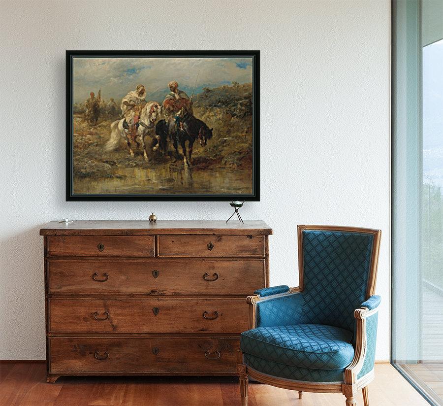 Arab horsemen raiding  Art