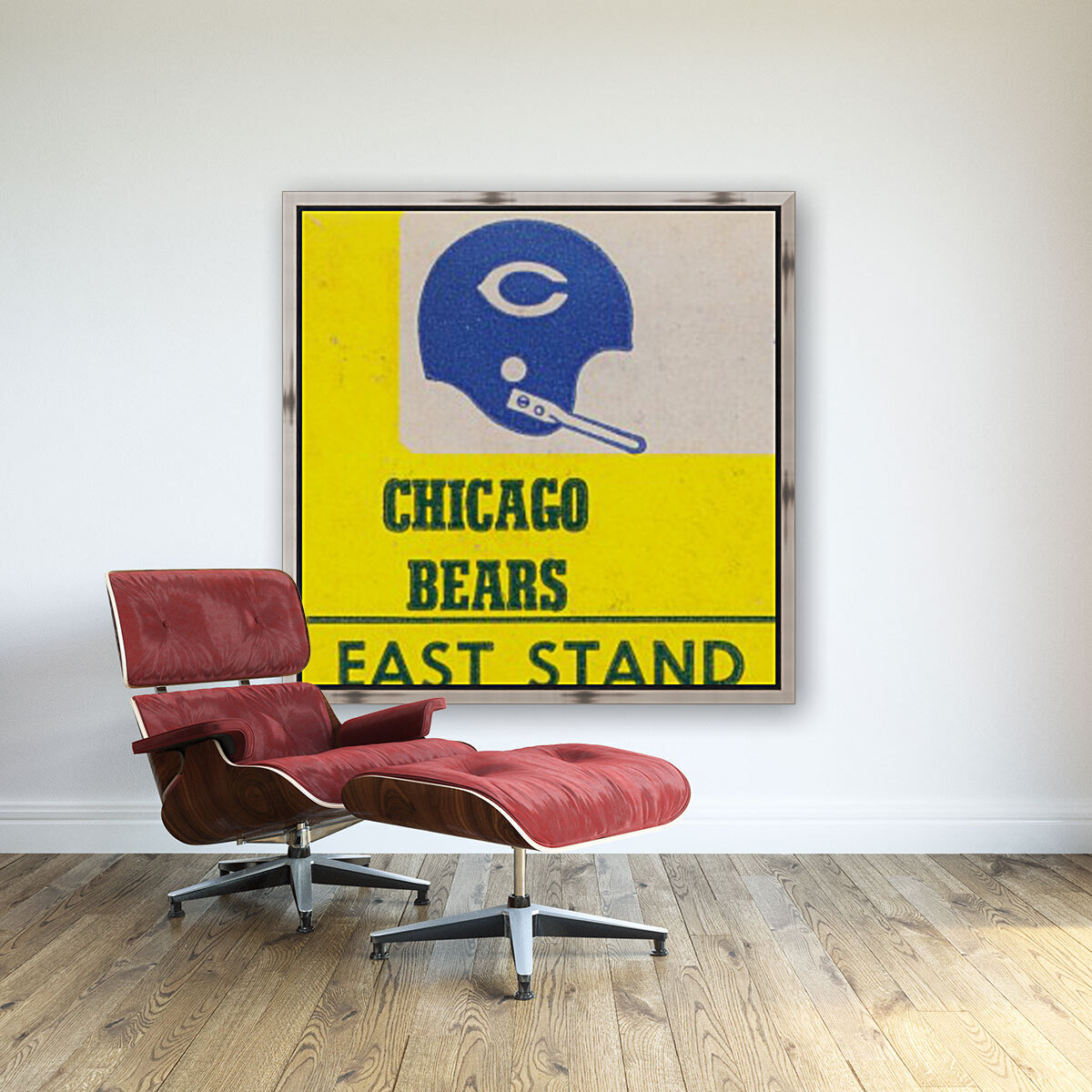 vintage chicago bears art poster metal canvas  Art