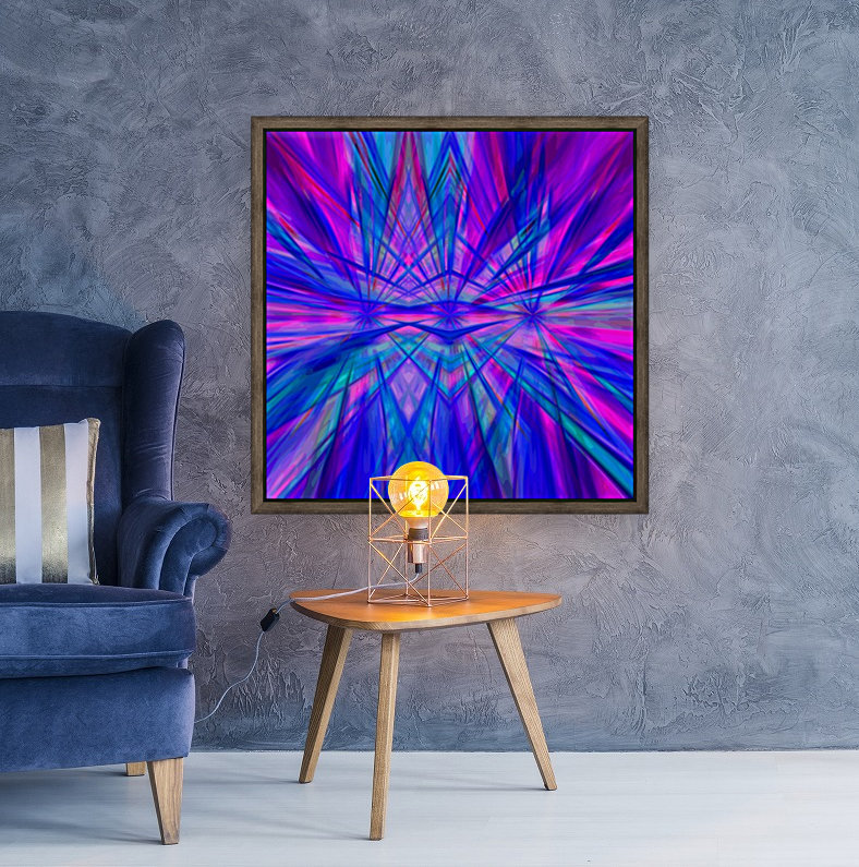 High Vitality - pink blue purple line abstract wall art  Art