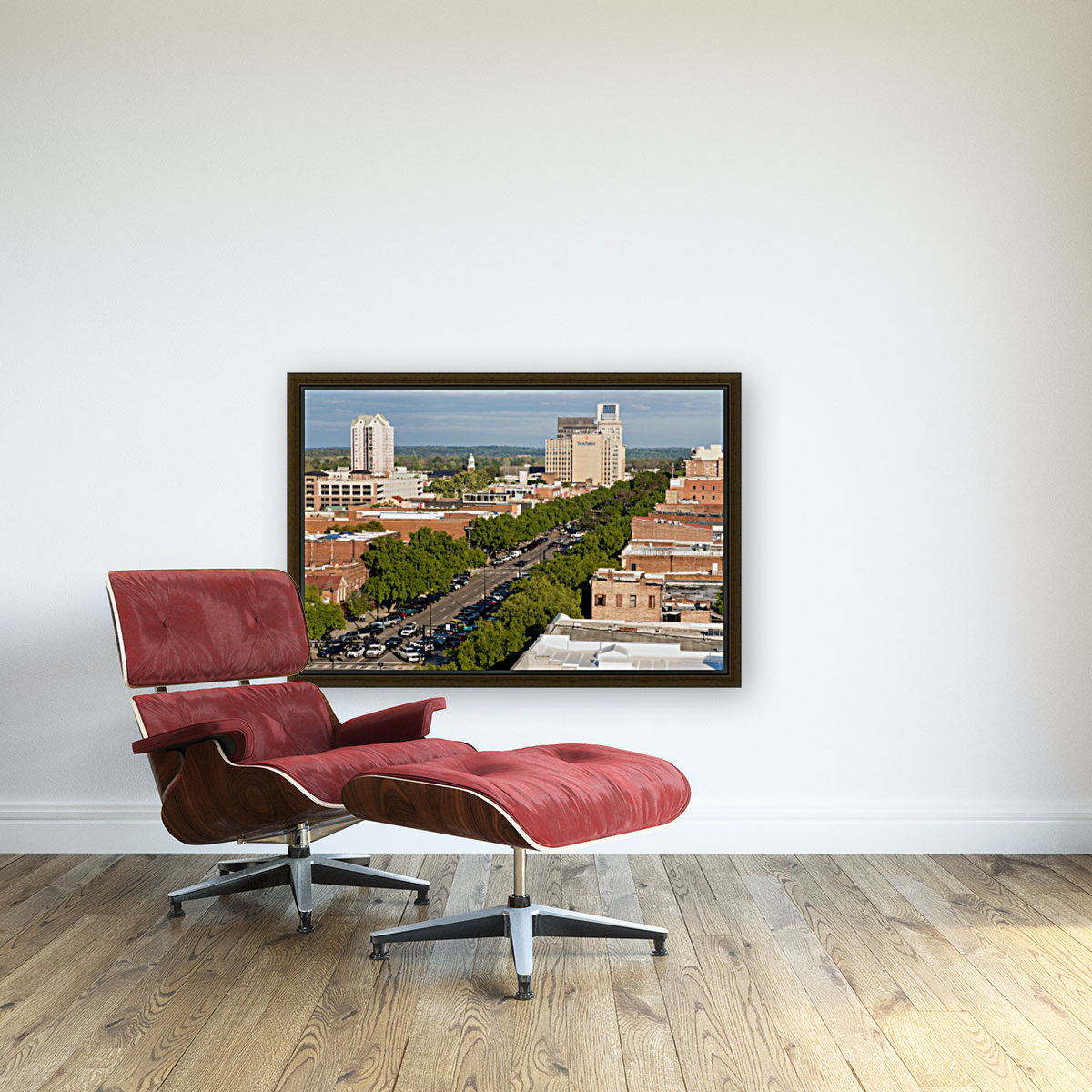 Broad Street Downtown Augusta GA Aerial View 8259  Art