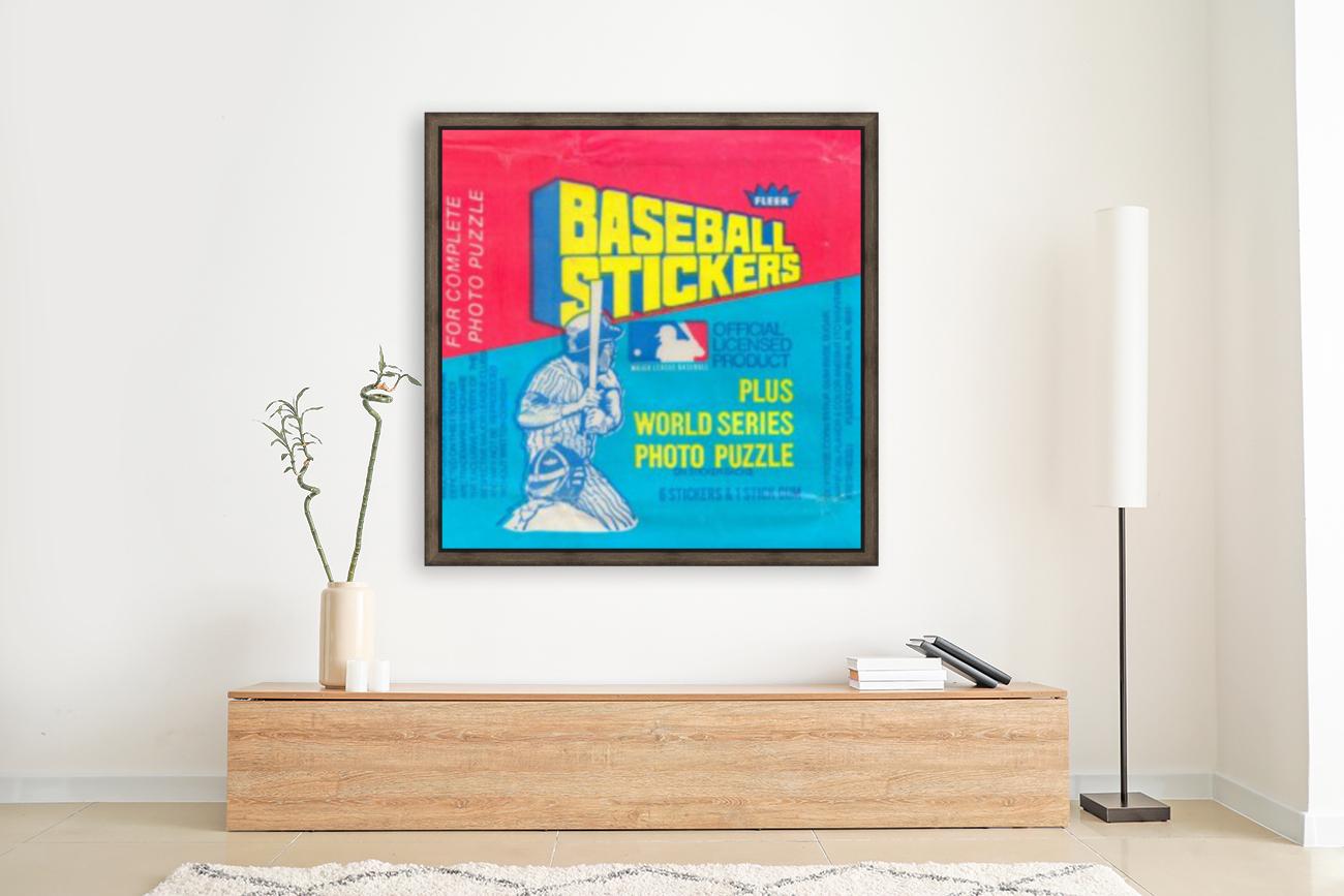 vintage fleer mlb baseball sticker package art design reproduction art  Art