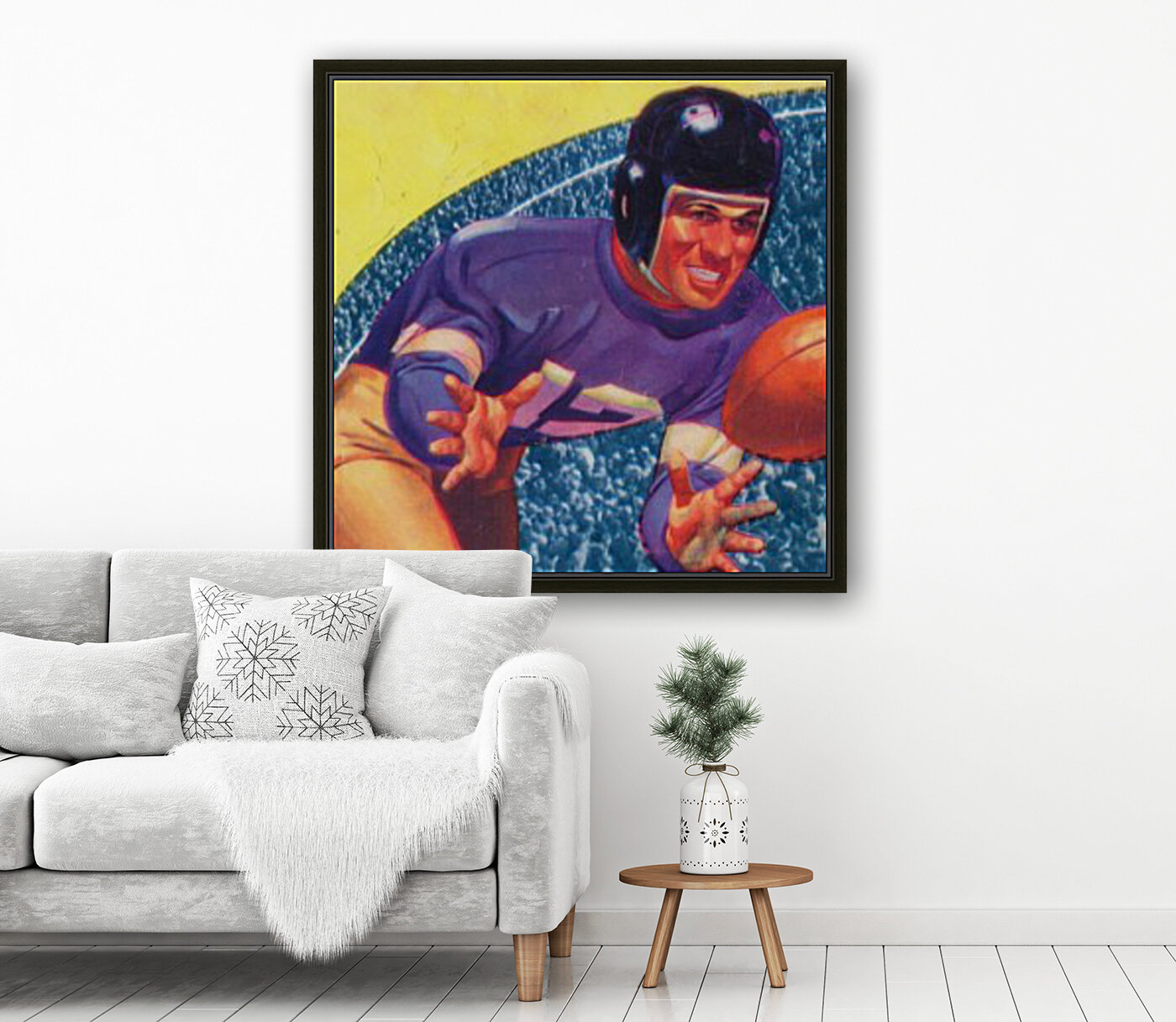 vintage football posters retro sports art print  Art