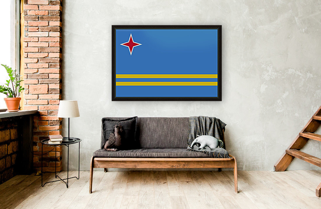 Aruba Flag with Floating Frame