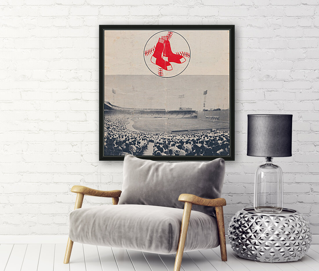 Vintage Fenway Park Poster_Boston Red Sox Photo Reproduction  Art