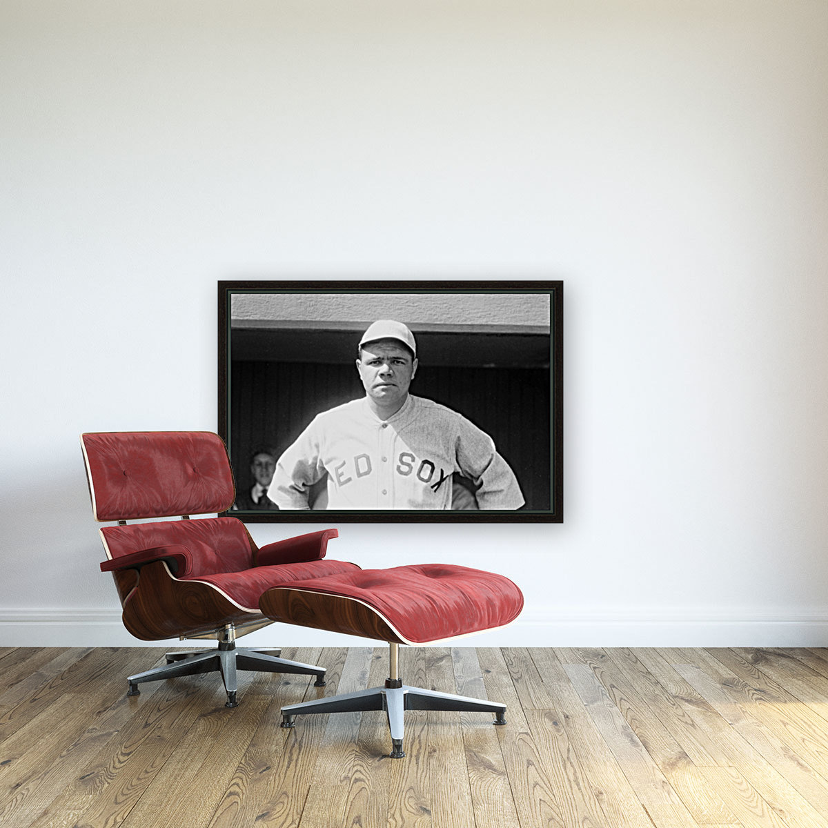 1919 Babe Ruth  with Floating Frame